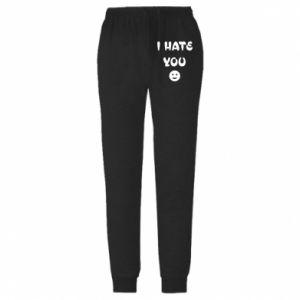 Męskie spodnie lekkie I hate you