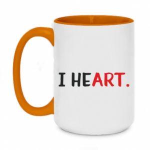 Two-toned mug 450ml I heart