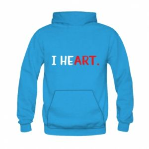 Kid's hoodie I heart