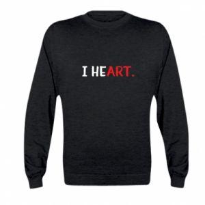 Kid's sweatshirt I heart
