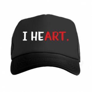 Trucker hat I heart
