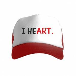 Kid's Trucker Hat I heart