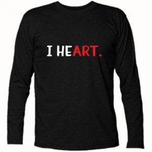 Koszulka z długim rękawem I heart