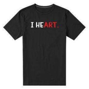 Męska premium koszulka I heart