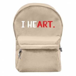 Backpack with front pocket I heart