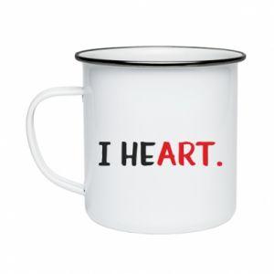Enameled mug I heart