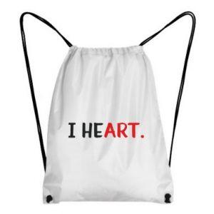 Backpack-bag I heart