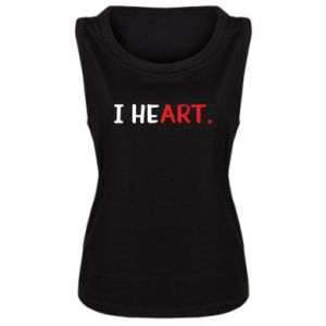 Damska koszulka bez rękawów I heart