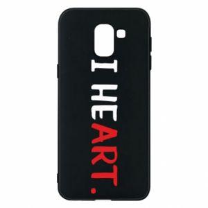 Samsung J6 Case I heart