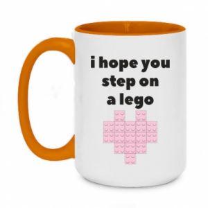 Kubek dwukolorowy 450ml I hope you step on a lego