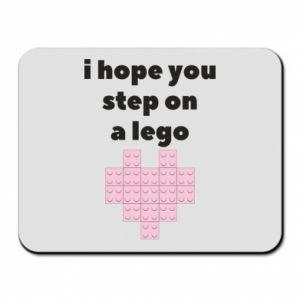 Podkładka pod mysz I hope you step on a lego