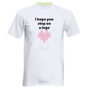 Men's sports t-shirt I hope you step on a lego