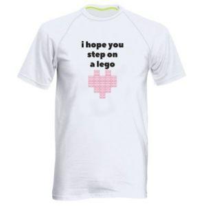 Koszulka sportowa męska I hope you step on a lego
