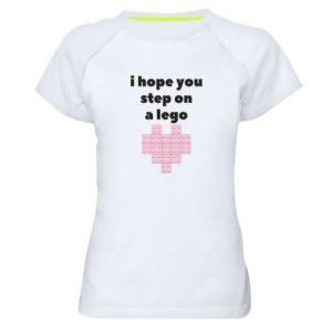 Koszulka sportowa damska I hope you step on a lego