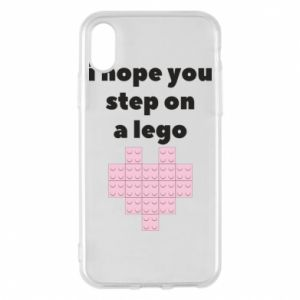 Phone case for iPhone X/Xs I hope you step on a lego