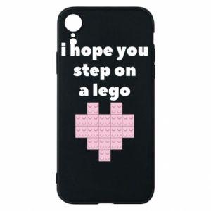Etui na iPhone XR I hope you step on a lego
