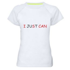 Koszulka sportowa damska I just can