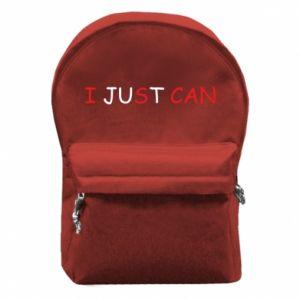 Plecak z przednią kieszenią I just can