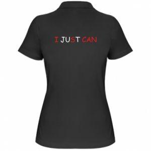 Koszulka polo damska I just can