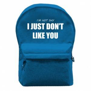 Plecak z przednią kieszenią I just don't like you
