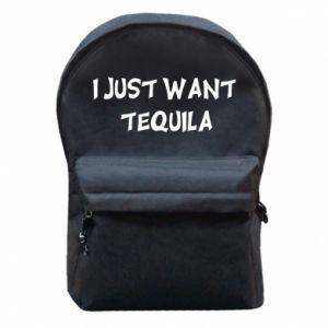 Plecak z przednią kieszenią I just want tequila