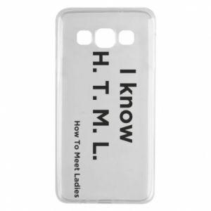 Etui na Samsung A3 2015 I know H. T. M. L. How To Meet Ladies