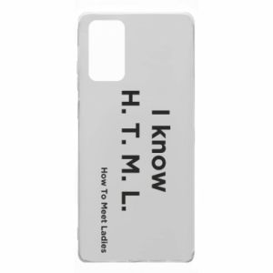 Etui na Samsung Note 20 I know H. T. M. L. How To Meet Ladies