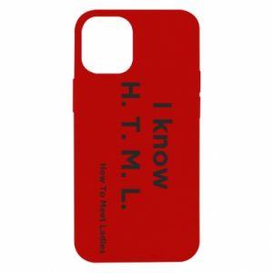 Etui na iPhone 12 Mini I know H. T. M. L. How To Meet Ladies