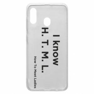 Etui na Samsung A30 I know H. T. M. L. How To Meet Ladies