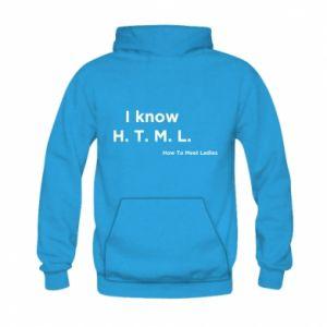 Bluza z kapturem dziecięca I know H. T. M. L. How To Meet Ladies