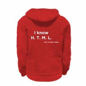 Bluza na zamek dziecięca I know H. T. M. L. How To Meet Ladies