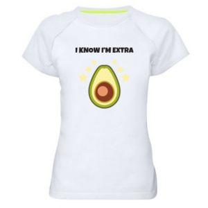 Koszulka sportowa damska I know i'm extra