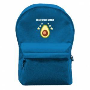 Plecak z przednią kieszenią I know i'm extra