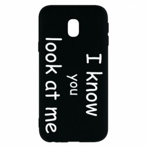 Etui na Samsung J3 2017 I know you look at me