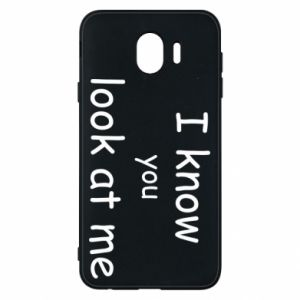 Etui na Samsung J4 I know you look at me