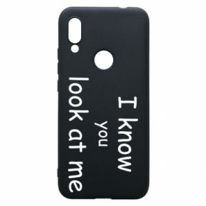 Etui na Xiaomi Redmi 7 I know you look at me