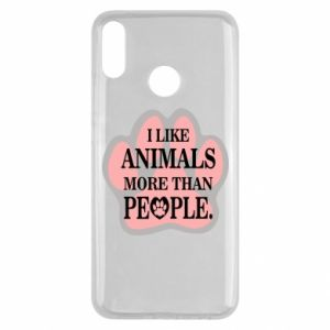 Huawei Y9 2019 Case I like animals more than people
