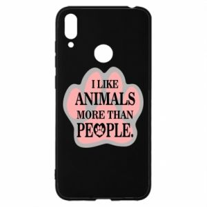 Huawei Y7 2019 Case I like animals more than people