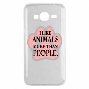 Samsung J3 2016 Case I like animals more than people