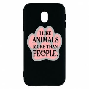 Samsung J3 2017 Case I like animals more than people