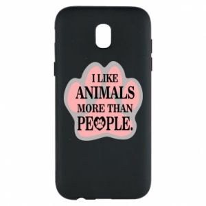Samsung J5 2017 Case I like animals more than people