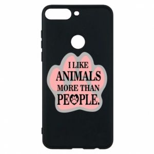 Huawei Y7 Prime 2018 Case I like animals more than people