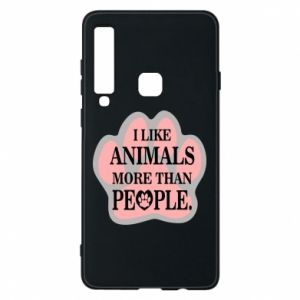 Samsung A9 2018 Case I like animals more than people