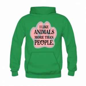 Kid's hoodie I like animals more than people