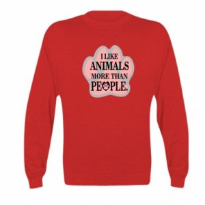 Kid's sweatshirt I like animals more than people