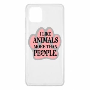 Samsung Note 10 Lite Case I like animals more than people