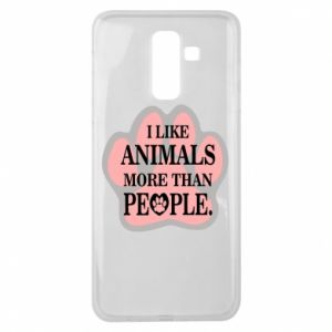 Samsung J8 2018 Case I like animals more than people