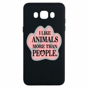Samsung J7 2016 Case I like animals more than people