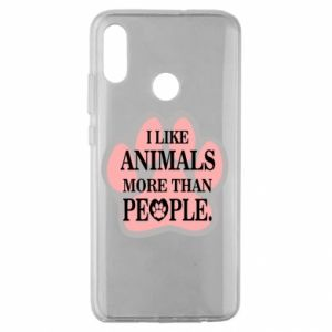 Huawei Honor 10 Lite Case I like animals more than people