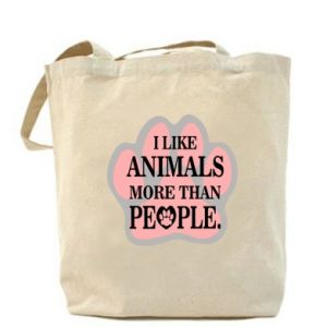 Bag I like animals more than people